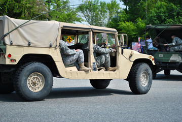 Army Men in a Jeep
