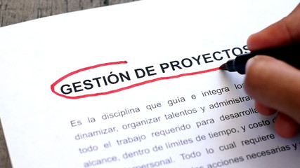 Circling Project Management (In Spanish)