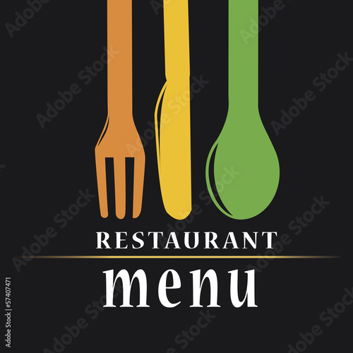 menu design with utensils