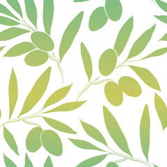 Vector pattern olive branch .For labels, packaging.