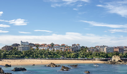 Views of Santander city and Sardinero beach, Cantabria, Spain.