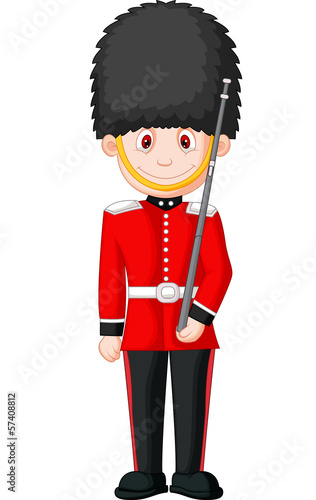 Illustration of a British Royal Guard