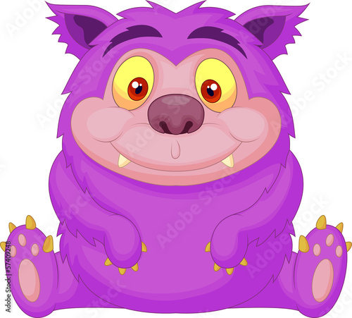Cute purple monster cartoon