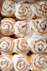 top view cinnamon buns
