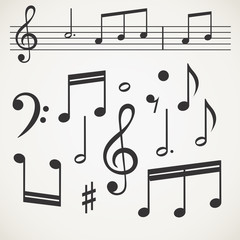 Music note collection