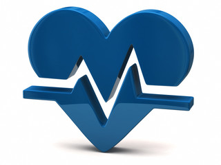 Blue heart rate icon