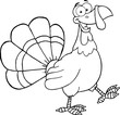 Black and White Turkey Cartoon Mascot Character Walking