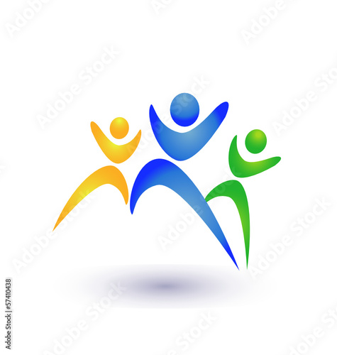 People group business logo vector