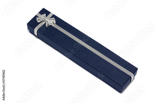 Blue gift packaging