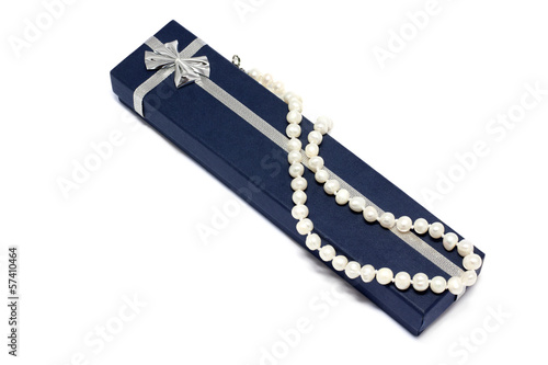 Pearls in the gift packing