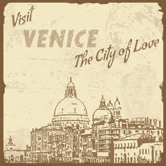 Visit Venice vintage poster