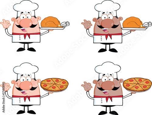 Chef Cartoon Characters 5. Collection Set