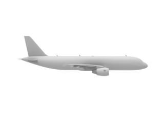 jumbo jet side view isolated