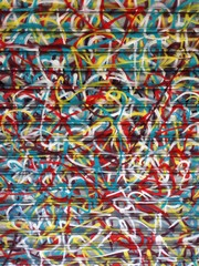 Abstract Graffiti Scribbles on Roller Shutter