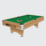 Pool table with balls