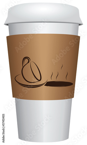 Cup coffee with closing lid