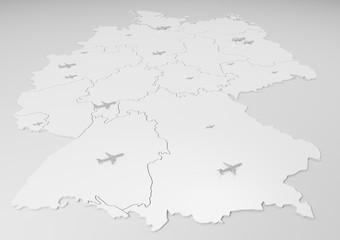 Deutschland mit internationalen Flughäfen