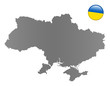 Ukraine-Landkarte