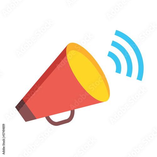 Vector Loudspeaker Icon