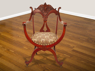 Antique American Mahogany Chair.