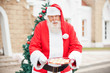 Santa Claus Offering Cookies