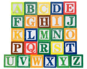 Letter blocks in alphabetical order