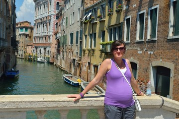 tourist woman have beautoful vacation time in venice