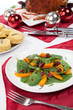 Roasted Pumpkin and Spinach Salad