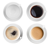 coffee cup assortment top view collection isolated - 57417664