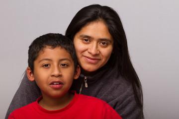 Hispanic Mom and her Child