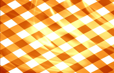 orange picnic cloth