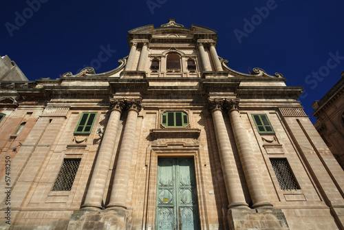 Italy, Sicily, Ragusa, baroque church facade