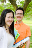 Portrait of cheerful asian students