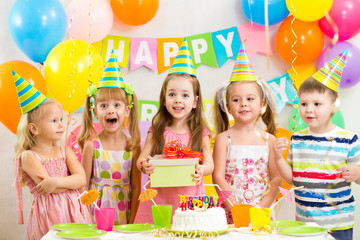 kids or children  on birthday party