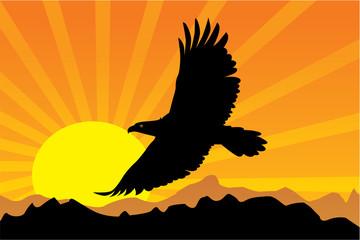 Yellow Bird Left Siluet