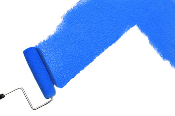 blue paint isolated