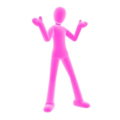 giveup pink person