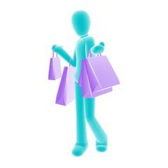 shopping blue