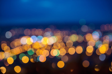 big abstract circular city lights bokeh background