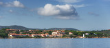 Panoramic view of Palau, Sardinia. Italy