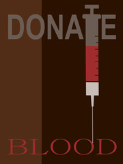 donate blood graphic design with needle