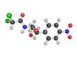 Chloramphenicol antibiotic drug, chemical structure