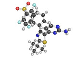 Dabrafenib melanoma cancer drug chemical structure. poster