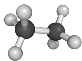 ethane natural gas component, molecular model