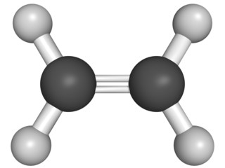 ethylene (ethene) molecular model.