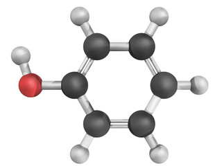 Molecular model of phenol