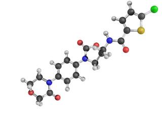 Chemical structure of Rivaroxaban anticoagulant drug
