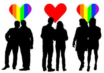 Lovers hearts