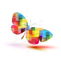 Vector butterflies background design, Colorfull EPS 10 concept