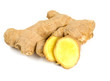 fresh ginger root isolated on white